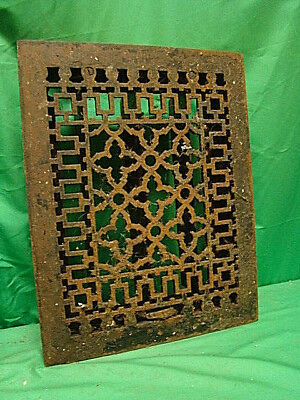Antique Late 1800's Cast Iron Heating Grate Unique Ornate Design 14 X 11 Dfkngv