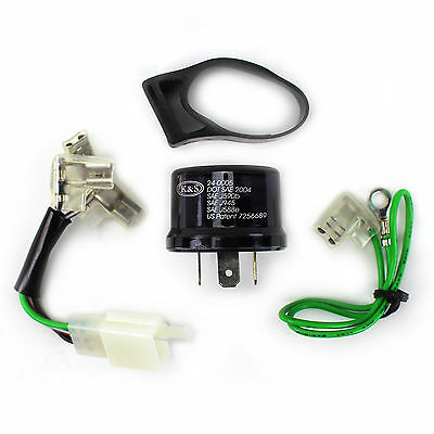 K&S LED Flasher Blinker Winker Relay Kit DOT Approved 16V 15A Scooter Moped