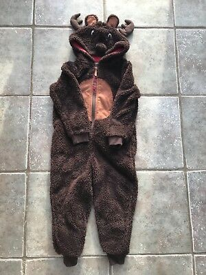 Fat face fleece reindeer' one piece  boy or girl aged 4-5 years