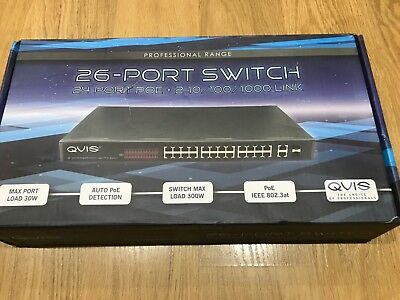 Qvis Poe Switch 24 Cctv Switch Brand New In Box