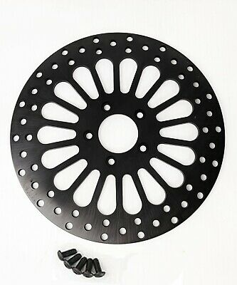 DNA Black Super Spoke Single Front 11.5 Disc Rotor Harley Touring Softail XL Dyn