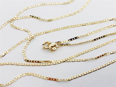 10k Yellow Gold 1.3mm Cable Chain Necklace 3.14g
