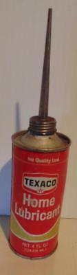 Vintage Collectible Texaco Home Lubrication Tin Can, Nice Shape