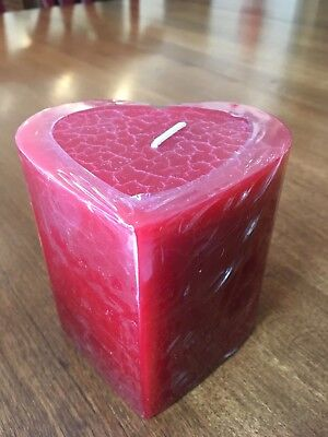 Longaberger Red Heart Pillar Candle NEW