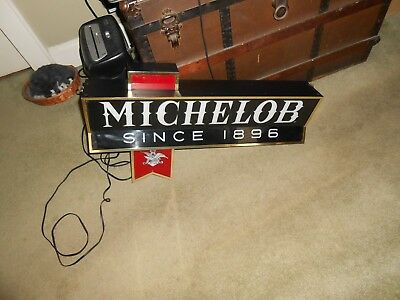 Vintage Michelob Beer Lighted Sign Michelob Since 1896 Works Very Well Free Ship