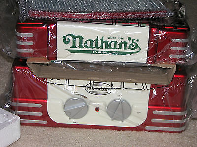 NIB Nathan's '50s Style Hot Dog Roller Machine Warmer Cooker Grill FREE SHIPPING