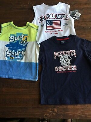 Lot of 3 OshKosh US Polo Healthtex Boys Shirts T-Shirts Sz 5T Brand New w/ Tags
