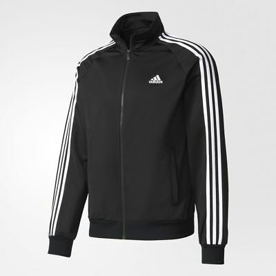 New Adidas Men's Essentials 3 Stripes Tricot Track Jacket~  Large  #br1024 Black