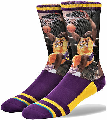 5a614c6174a STANCE SHAQUILLE O NEAL Los Angeles Lakers NBA Legends Socks Size L ...