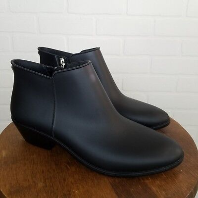 2a84fcd1044fe SAM EDELMAN TINSLEY Womens Size 8 Rain Boots Black Rubber Ankle ...