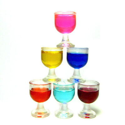 6pcs Miniature Champagne Cup Wine Glasses For Dollhouse Party Scenes Decor