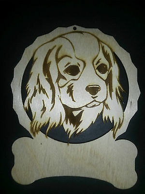 Personalized Cavalier King Charles Spaniel dog ornament