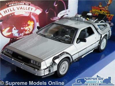 Delorean Back To The Future Ii 2 Car Model 1:24 Size Size Welly Time Machine T3