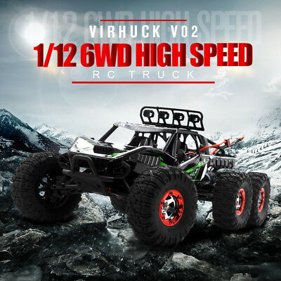 Brushless RC Car 6WD Electric RC Monster Truck Vehicle High Speed +Backpack
