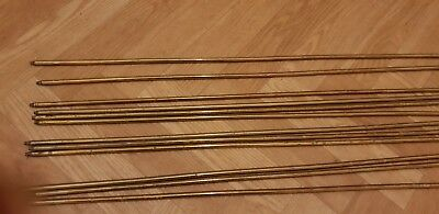 Reclaimed Brass Stair Rods - 12 - Good Quality - vintage