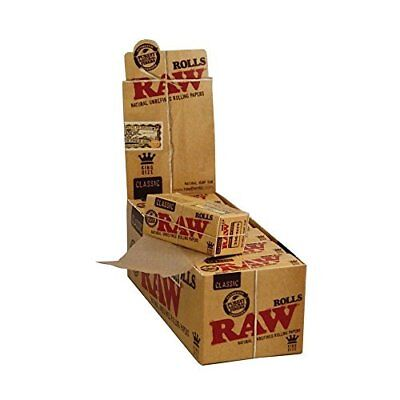 Raw Rolls Classic Rolling Paper King Size 55mm 3 Meter (9 Feet) Full Box Of 12 P