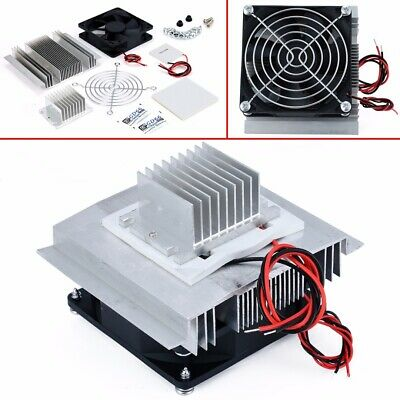 12V Thermoelectric Peltier Refrigeration Cooling Cooler Fan System Heatsink Set