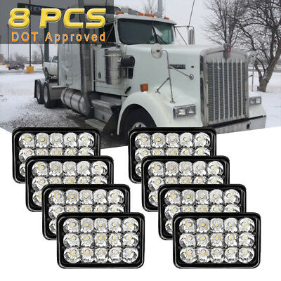 8x 4x6'' Cree LED Headlights Seal Beam for Kenworth T400 T800 W900 Chevrolet G20
