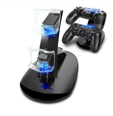 Charger Station Fast Charging Ps4 Dock Controller Dual Stand USB Led Playstation