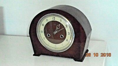 Vintage Smiths Enfield Mantel Clock for Restoration or Parts (see note below)