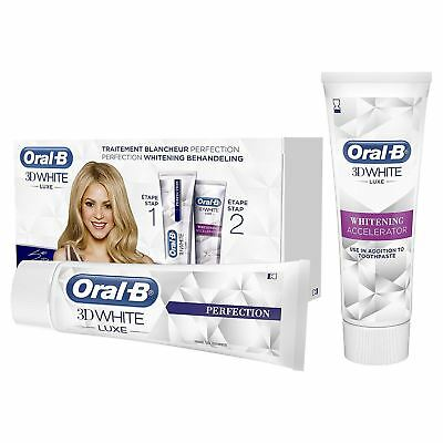 Oral-B 3D White Luxe Whitening Accelerator Treatment + Toothpaste, 75 ml - NEW