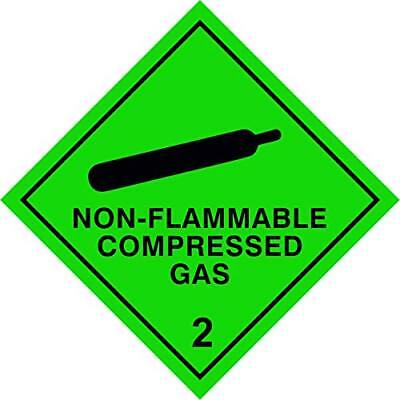 Hazchem Diamond Magnetic Sign 100mm by 100mm Screen Printed Safety Label Vehicle