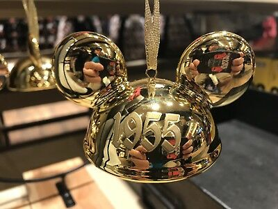 Disney Parks Mickey Mouse Club Ear Hat Gold Ornament Limited Edition 2000 New