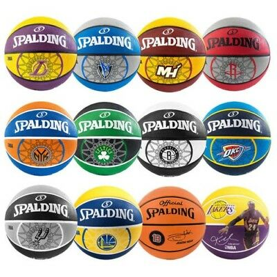 Spalding NBA Équipe Basketball Nets Lakers Spurs Mavericks Warriors Rockets