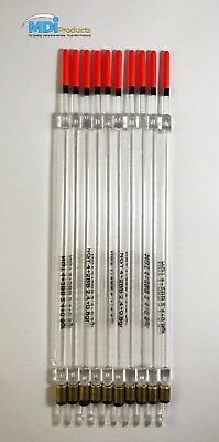 Pack of 10 Match Fishing Floats Insert Loaded Clear Wagglers 20cm 4+2BB Floats