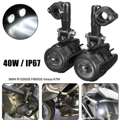 2 Fari Supplementari Led Faretti Moto Faro Bmw Gs1200 Lc Adv F800 F700 40W Ip67