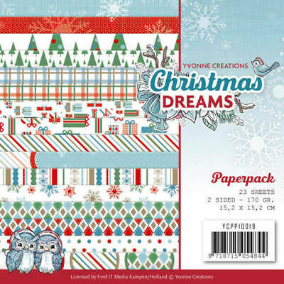 Paperpack - 15,2 x 15,2cm - Yvonne Creations - Christmas Dreams – 170gr -