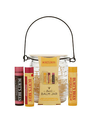 Burt's Bees Lip Balm Jar Gift Set (3 lip balms) Brand New