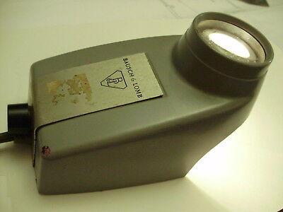 Vintage industrial Bausch & Lomb Magnifier Microscope Machine Age Antique Loupe