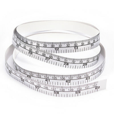 150cm Vinyl Silver Self Adhesive Measuring Tape Ruler Sticker,For Sewing Pip