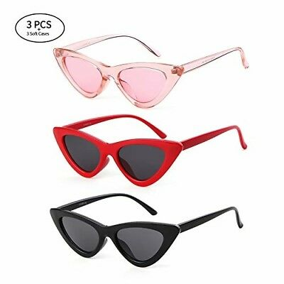 6dbc85b9e5c8 Gifiore Retro Vintage Cat Eye Sunglasses for Women Clout Goggles Plastic  Frame G