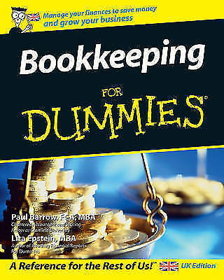 Bookkeeping For Dummies by Lisa Epstein, Paul Barrow (Paperback, 2007)