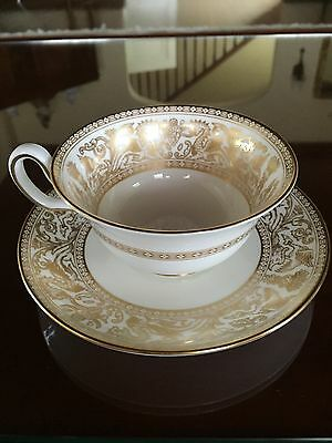 Wedgwood Gold Florentine Tea Cup and Saucer Set Excellent! More Available!