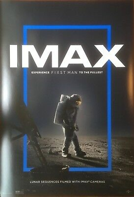 FIRST MAN (2018) Original Movie Promo Poster IMAX 13x19 - Ryan Gosling