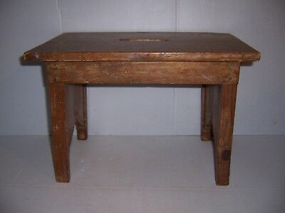 Antique Wooden Stool Bench Step Stool with Provenance Farm Country Kitchen