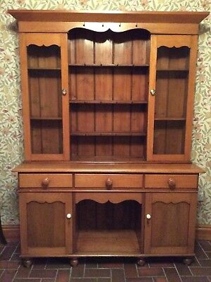 Small Antique Welsh Oak Swansea Dresser 152 X 42cm Excellent Condition.