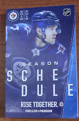 2018/19 Winnipeg Jets / Manitoba Moose Combo Pocket Schedule