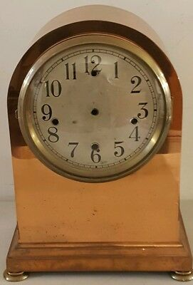 """Antique Waterbury No. 600 Chime Large Brass Triple Chime Beehive Clock Case 16"""""""