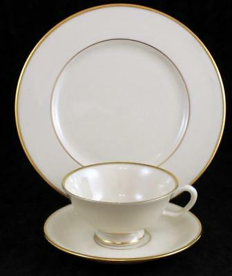 Lenox China MANSFIELD Footed Cup & Saucer + Salad Plate GREAT CONDITION