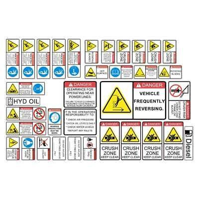 Wheel Loader Safety Decal Kit | 7 Year Rated Vinyl Decals