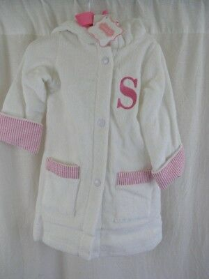 Mud Pie Baby Girl Bathrobe Infant 0-6 Months Pink Robe Personalized Letter  S New 2fc0d4728