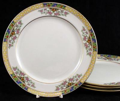 Lenox THE ORCHARD 4 Luncheon Plates Vintage Pattern 1920 T-1 USED GREAT VALUE