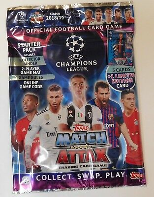 2018 2019 Topps Champions League Match Attax Soccer Cards
