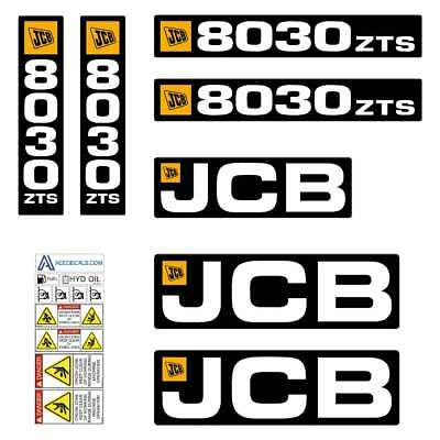 JCB 8030 ZTS decals - Repro decal Sticker kit