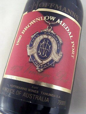 "1979 HOFFMANNS 1980 Brownlow Medal Vintage Port ""C"" ISLE OF WINE"