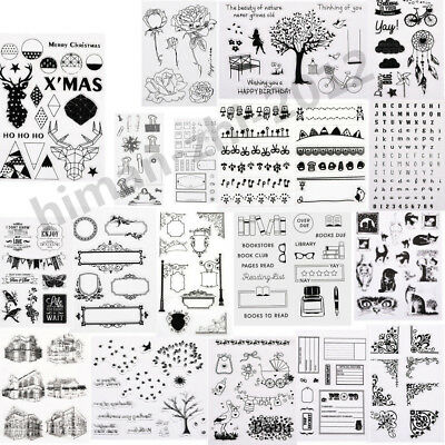 Alphabet Transparent Silicone Clear Rubber Stamp Cling Diary Scrapbooking DIY YR